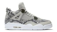 48f200cb14d0 Air Jordan 4 Snakeskin Light Bone White-Pure Platinum-Wolf Grey 819139-