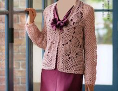 Crochet and arts: Cardigan with Pineapple