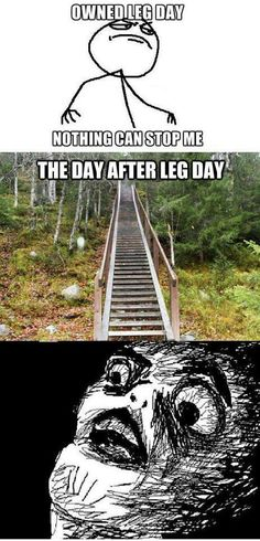 The day after leg day