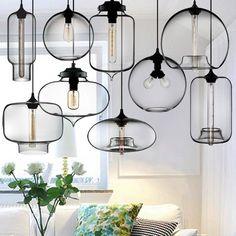 Buyee® Industrial Edison Glass Shade Ceiling Pendant Lamp Fixture (Cannon pendant light): Amazon.co.uk: Lighting