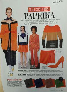 InStyle Color Crash Course Paprika Oct.2013