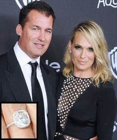 The Most Breathtaking Celebrity Engagement Rings Ever - Molly Sims and Scott Stuber from InStyle.com