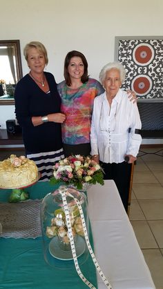 From right to left: Surina (the birthday girl's daughter), Anina (a friend of Surina) and Lena the birthday girl #rubiconnelspruit #nelspruit #retirement #birthday