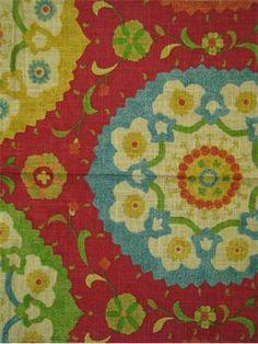Red Suzani fabric