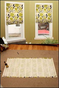 DIY Roman Shade from Mini Blinds Mini blinds Roman and Tutorials