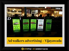 zoom car look walkers,ad walkers,I walkers advertisement in Vijayawada, Andhra Pradesh. adzshop innovative advertisement