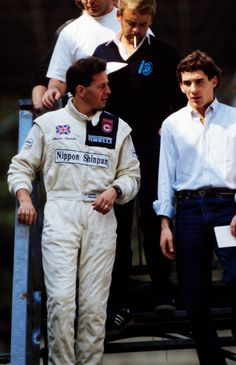 Martin Brundle and Ayrton Senna