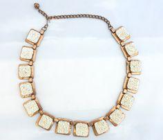 copper an enamel necklace