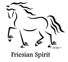 Friesian2.jpg Equine Calligraphy Designs by Sandra Beaulieu — Begin the Dance with Sandra Beaulieu - http://beginthedance.com/design-gallery-1/