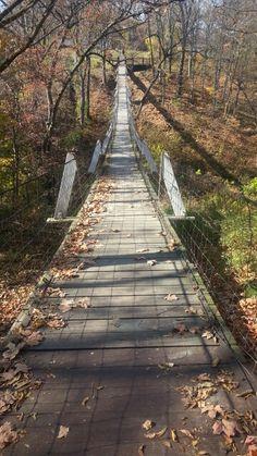 Swinging Bridge in Columbus Junction, Iowa