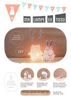 TUTO DIY pour une chwtt lampe faite maison, pour la chambre de vos loulous, pour faire joli dans votre salon... Tout dépend de la forme et de la couleur !!