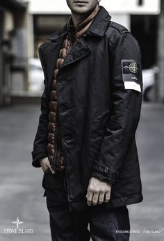 #StoneIsland #Trench in David TC *love the puffer vest layered underneath ...it gives this look some color & texture ....warmth on a chilly day..*layers