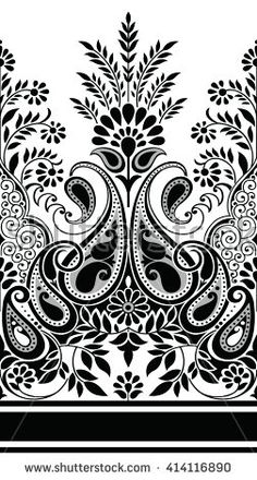 Find Paisley Indian Motif stock images in HD and millions of other royalty-free stock photos, illustrations and vectors in the Shutterstock collection. Textile Pattern Design, Textile Patterns, Pattern Art, Stencil Designs, Paint Designs, Saree Painting Designs, Textile Prints, Textiles, Paisley Background