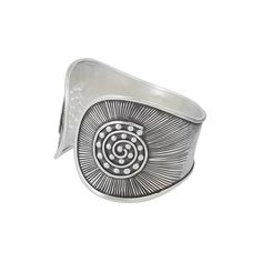 NOVICA Hand Crafted Silver Cuff Bracelet with Geometric Motif ($183) ❤ liked on Polyvore featuring jewelry, bracelets, clothing & accessories, cuff, fine silver, oxidized silver jewellery, oxidized silver jewelry, cuff bangle bracelet, geometric cuff bracelet and tribal jewelry