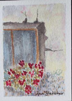"Window - 2.5 x 3.5"" watercolour"