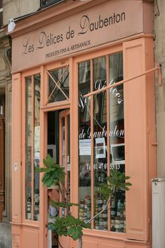 Les Delices de Daubenton in Paris - sale of some rare products of the soil; Vinegars, of rhubarb wine, wines from Graves de Vayres, truffles, pralines of Provence Paris 3, Paris France, Paris Cafe, Storefront Signs, Shop Facade, Paris Shopping, Belle Villa, Lovely Shop, Shop Fronts