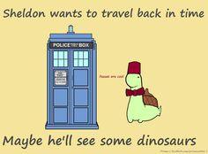 Sheldon, the tiny dinosaur that thinks he's a turtle.