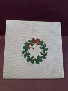 Box card outside, IO holly die garland, MB bow.