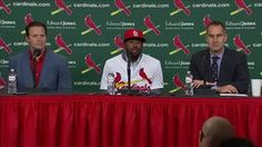 Watch LIVE as St. Louis Cardinals announce the signing of free-agent OF Dexter Fowler.
