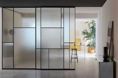 Wall Partition Design, Glass Partition Designs, Sliding Pocket Doors, Sliding Wall, Glass Office Doors, Glass Door, Door Design, Wall Design, House Design