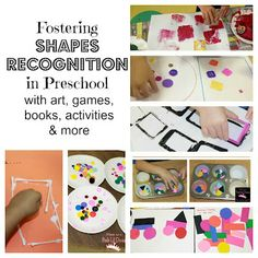 shape recognition activities for kids - art, games, books, activities & more