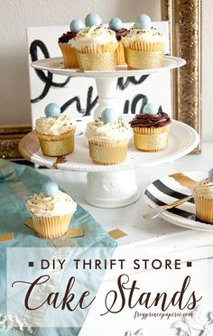 DIY for your next party on the cheap with a DIY thrift store cake stand!
