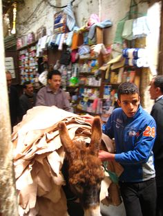 A Boy and his Donkey in Fes Medina