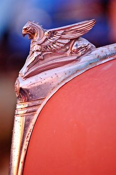 1932 Essex Griffin Hood Ornament 2 by Jill Reger