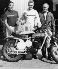 1973 (circa)- Malcolm Smith, Torsten Hallman, and Edison Dye (The Father of American MX)