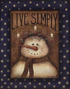 Live Simply by Kim Lewis art print