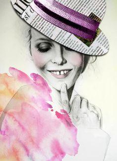 Fantastic mix.....  Sara Vera Lecaro is an Ecuadorian artist and fashion illustrator who works predominantly in fashion and portraiture.   50 Beautiful Fashion Illustrations   Cuded