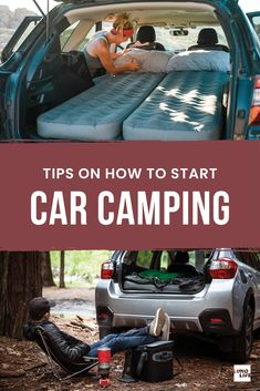A Step by Step Guide to Sleeping in Your Car Minivan Camping, Camping 101, Truck Camping, Camping Glamping, Camping Supplies, Camping And Hiking, Outdoor Camping, Car Camping Essentials, Backpacking Gear