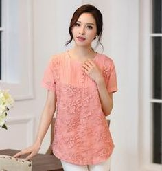 2016 Women Embroidery Lace Blouse