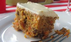 eggless carrot cake - I added some sultanas, and did a lemon glaze instead of cream cheese frosting. Super yummy and easy!