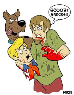 Scooby doo Shaggy zombies                                                                                                                                                                                 More
