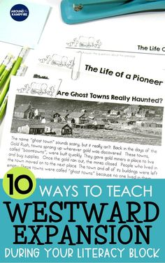 10 Creative ways to embed social studies into your literacy block. Find fun westward expansion activities that address literacy standards with center ideas. 4th Grade Social Studies, Social Studies Activities, Teaching Social Studies, Reading Activities, Teaching Tips, Teaching Reading, Reading Strategies, Reading Skills, Fourth Grade