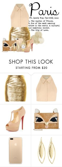 """""""The City Of Love ♥"""" by shyanimallover5 ❤ liked on Polyvore featuring Yves Saint Laurent, Cacharel, Christian Louboutin, Betsey Johnson, Fragments and Movado"""