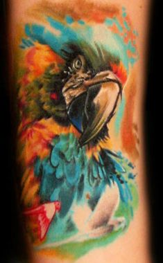 Tattoo Artist - Bartosz Panas - I might get a Macaw tatt this summer and i loovee this one