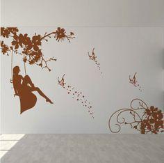 Наклейки гостиной диван фон стены стикеры телевизор фоне стены стикеры Свинг Девушки уютная спальня прикроватные наклейки наклейки - Taobao