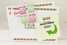 Santa Stationery Envelopes and Stamps by Erin Lincoln for Papertrey Ink (September 2012)