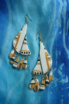Earring, hand made earring, Earring is an artistic, creative work, MAILA earring by tothajhsa on Etsy
