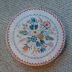 Os style Rosemaled 15 Lazy Susan by RusticRoseArt on Etsy