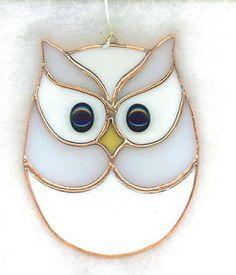 Stained glass owl | Stained Glass Owl Suncatcher OWL29 | eBay