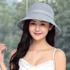 28cde294 Women's Yarn Fisherman Hats Foldable Bucket Cap Vogue Sunshade Vacation  Seaside Big Brim Hat