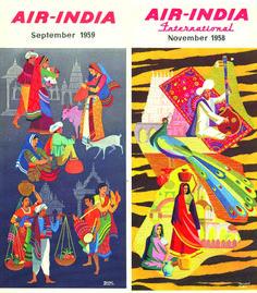 Vintage Air-India Timetable Design 1958-1959