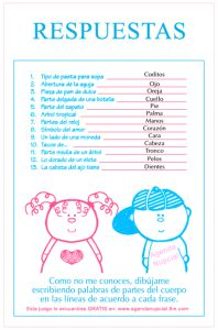 Juego de Baby Shower: Partes del cuerpo del bebe   Manualidades para Baby Shower
