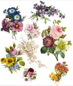 vintage flower temporary tattoos - Buscar con Google