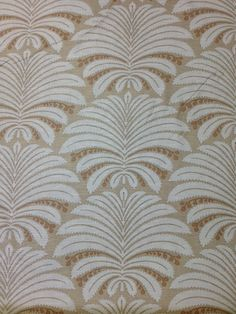 Hines Fabric Company Fabric Yardage, Palmyra pattern, in parchment color. This designer fabric is Cotton, 34 % Linen, and rayon. It is 54 wide Pillow Fabric, Chair Fabric, Palmyra, Fabric Manipulation, White Patterns, Fabric Design, Print Patterns, Pillow Covers, Prints