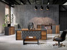 Vend Ensemble De Meubles Pour Bureau Design Office Cabin Design, Law Office Design, Office Furniture Design, Office Interior Design, Luxury Interior Design, Office Interiors, Bureau Design, Wood Table Design, Luxury Office