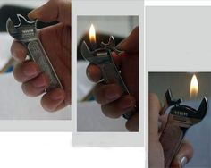Metal Refillable Wrench Lighter (boyfriend gift) on Wanelo